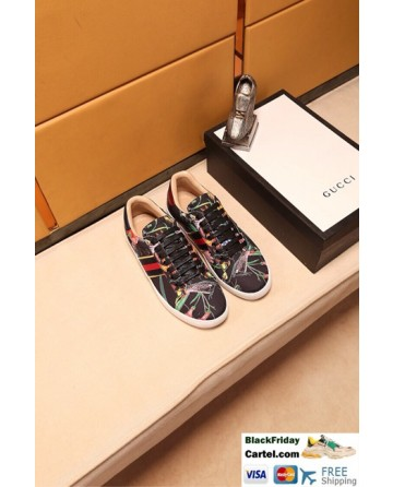 Hight Quality Gucci 2018 Black Couple Casual Shoes