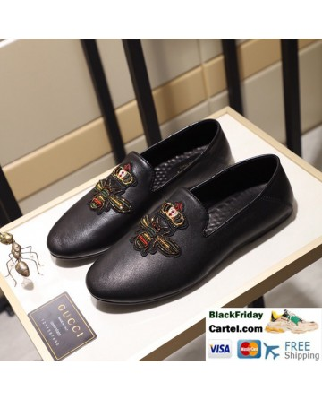 Hight Quality Gucci 2019 Classic Black Casual Peas Men's Shoes