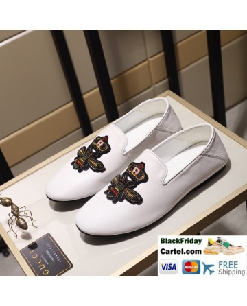 Hight Quality Gucci 2019 Classic White Casual Peas Men's Shoes