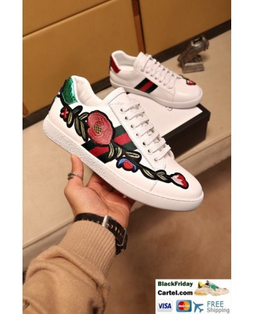 Hight Quality Gucci 2017 White Couple Casual Shoes