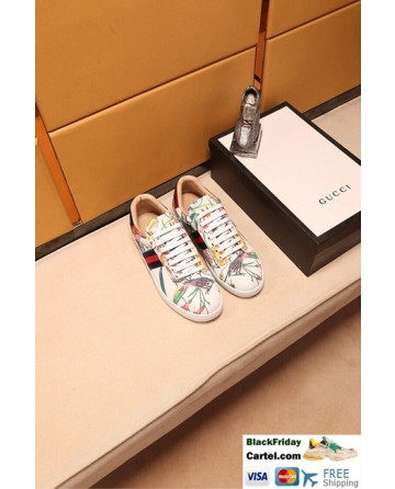 Hight Quality Gucci 2018 White Couple Casual Shoes