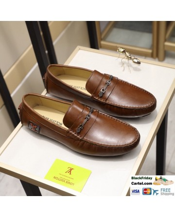 Hight Quality Louis Vuitton 2019 Men's Brown Casual Peas Shoes