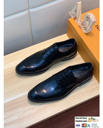Hight Quality Louis Vuitton 2019 Men's Black Business Shoes