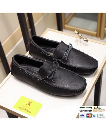 Hight Quality Louis Vuitton 2019 Men's Black Casual Peas Shoes