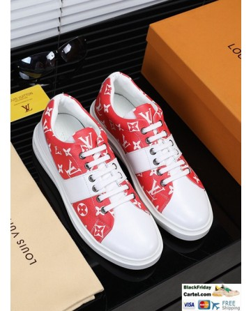 Hight Quality Louis Vuitton 2019 Men's Red And White Casual Shoes