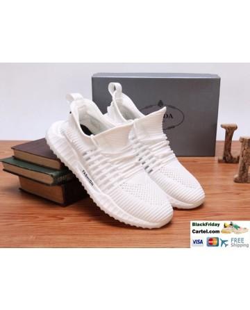 Hight Quality Prada 2019 Summer New White Sports Men'S Shoes