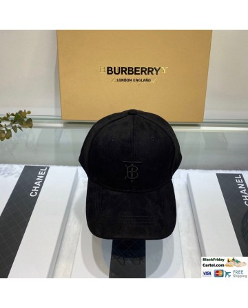 Hot Sale Burberry Black Velvet Baseball Hat Online