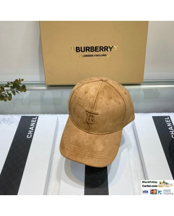 Hot Sale Burberry Velvet Baseball Cap For Men and Women