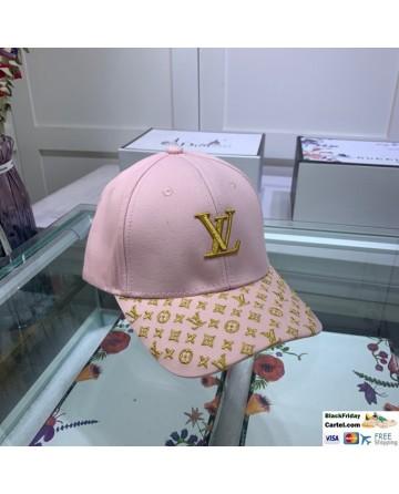 Hot Sale LV Marten Velvet Baseball Hat Pink