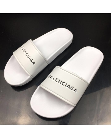 Balenciaga Piscine White Slippers