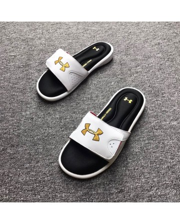 Under Armour White Cutton Bottom Slippers