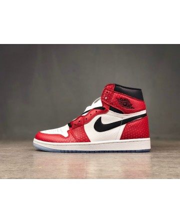 Replica Air Jordan AJ 1 Red&White Running Shoes