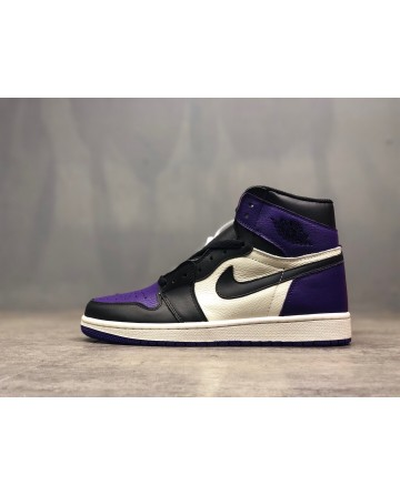 Replica Air Jordan AJ 1 Purple Running Shoes For Men