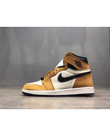 Air Jordan 1 High AJ Yellow Running Shoes