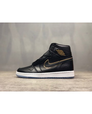 Replica Air Jordan AJ 1 Black Running Shoes