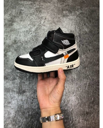 AJ LTD Edition Black Children Shoes