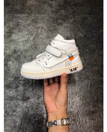 AJ LTD Edition White Children Shoes