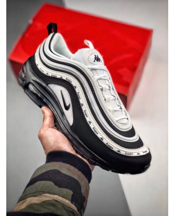 Nike Air Max 97  X Kappa Black&White Bullet Running Shoe