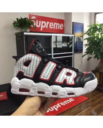 Nike Air More Uptempo X  LV Supreme Black&White Shoes