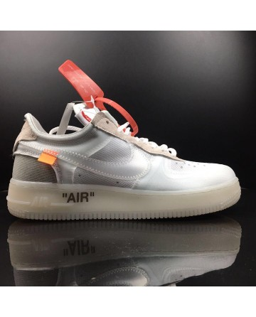 OFF WHITE X Nike Air Force 1 Low 2.0 White Shoes For Sale