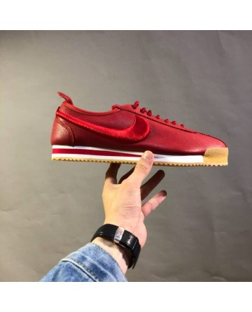 Nike x Cortez'72 Agam Red Leather Upper Vamp Sports Shoes