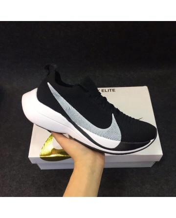 Nike Weaving Fly Line Surface Running Shoes With White And Black Logo