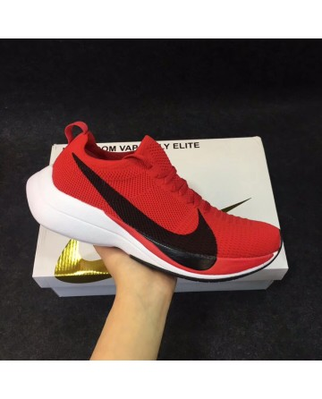 Nike Flyknit Red Running Shoes For Sale