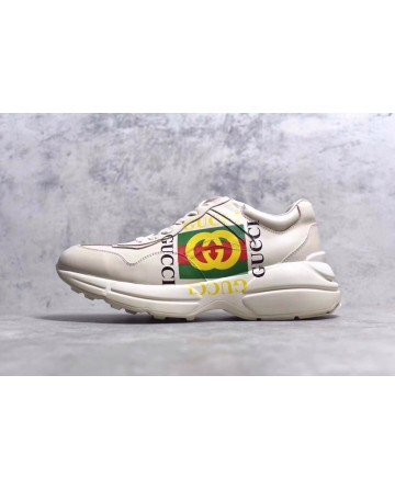 GUCCI  Daddy White Shoes With Logo
