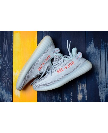 Replica Adidas Yeezy 350 V2 Grey Shoes With White Logo