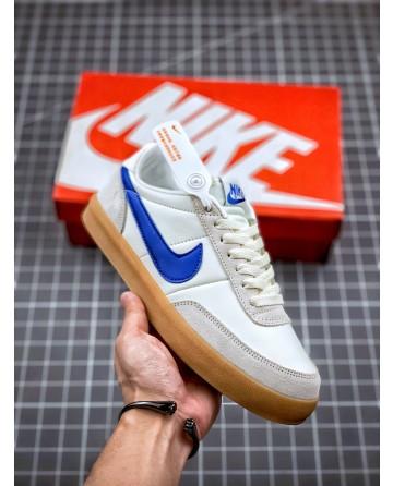 J.Crew x Nike Killshot 2 Leather Shoes Blue Swoosh Logo Low
