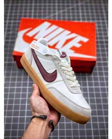 J Crew x Nike Killshot 2 Leather Shoes Wine red Swoosh Logo
