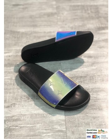 Louis Vuitton Rainbow Series Fashion Slippers Black Soles