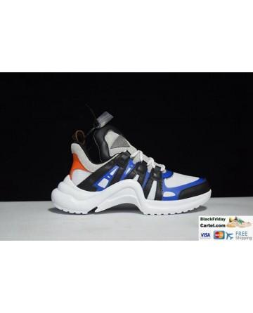 Louis Vuitton Sci-Fi Sneakers Vintage Dad Shoes White & Black & Blue