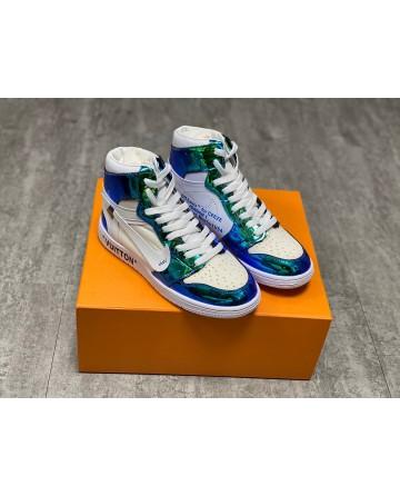 Louis Vuitton x Off-White x Nike Air Jordan 1S Shoes - Green & White
