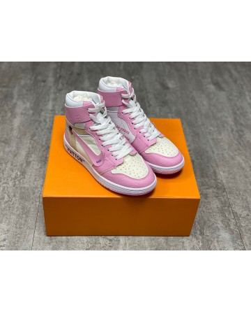 Louis Vuitton x Off-White x Nike Air Jordan 1S Shoes - Pink