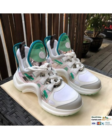 LV Archlight Sneaker Shoes Green & White