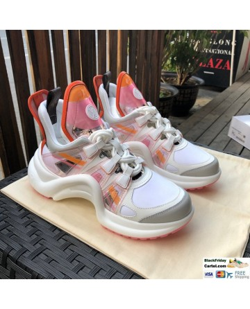 LV Archlight Sneaker Shoes Pink & White