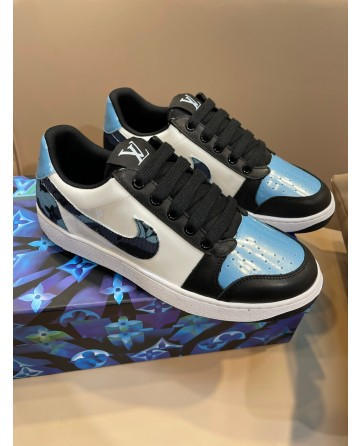 LV x Gucci x Nike Low Sneakers Oblique Print Luxury