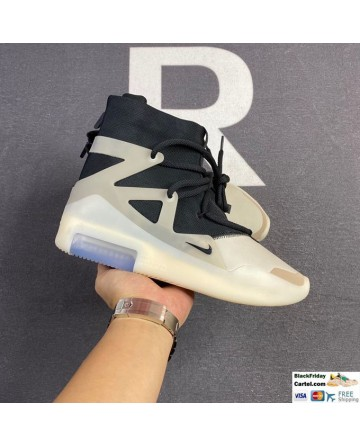 Men Nike Air Fear of God 1 White & Black Sneakers