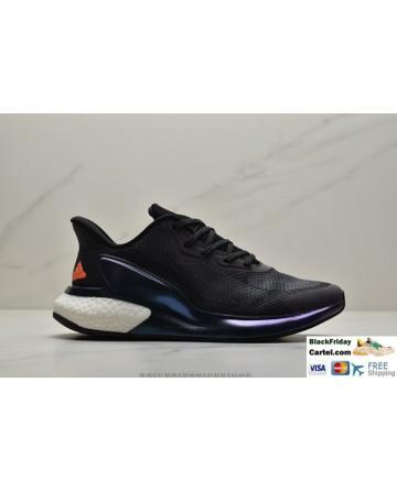 Men's Adidas Alphabounce Men's Black Sneakers With Orange Logo