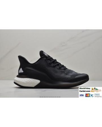 Men's Adidas Alphabounce Men's Black Sneakers With White Logo