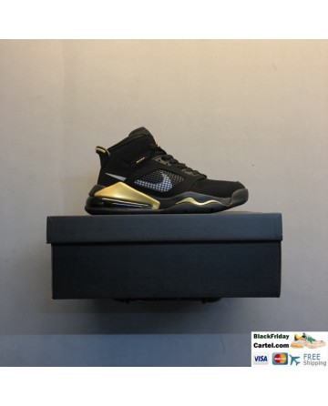 Men's Nike Air Jordan Mars 270 Basketball Shoes Black & Gold