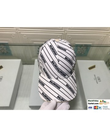 Men's / Women's Balenciaga Classic Balenciaga Embroidered Baseball Hat In White