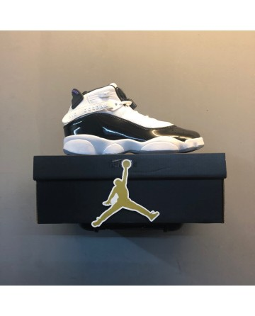 New Air Jordan 6 RINGS GS Basketball Shoes Black & White