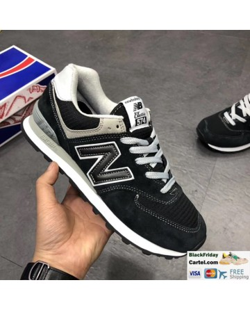 New Balance 574 Classic Black Running Shoes