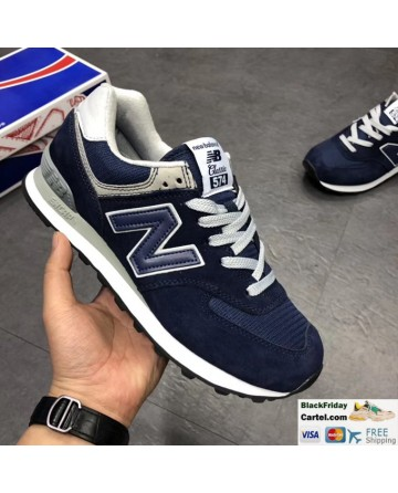New Balance 574 Classic Dark Blue Running Shoes