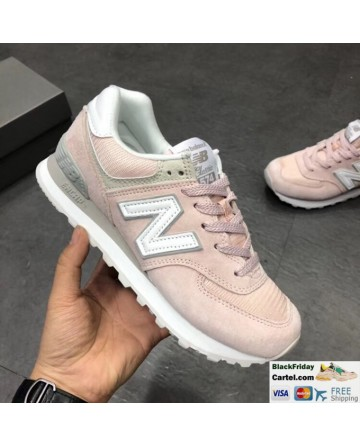 New Balance 574 Classic Pink Running Shoes