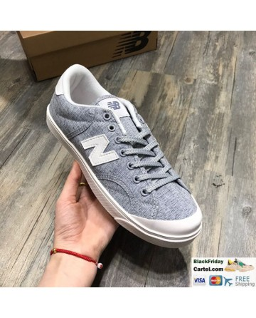 New Balance Pro Court Canvas Casual Shoes Grey