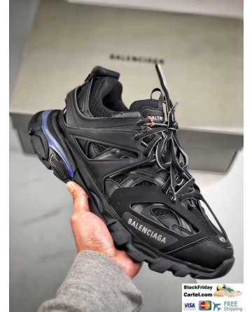 New Upgraded Balenciaga Track Led Sneakers in Black for Men