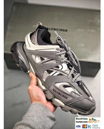 New Upgraded Balenciaga Track Led Sneakers in Grey